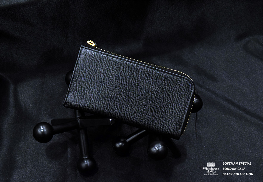 LOFTMAN別注 S1195 L Zip Wallet-Black