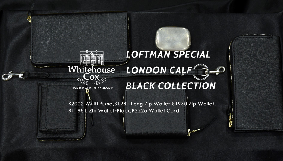 Whitehouse Cox LOFTMAN SPECIAL LONDON CALF BLACK COLLECTION