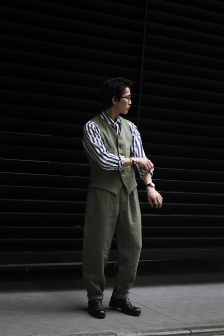 9a8c458bba1a Nigel Cabourn MALLORY VEST – HIGH DENSITY LINEN col   Green   Dark Navy  size   46   48   50   52   56 price   30